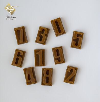 Alphabet Letters Honey Wax