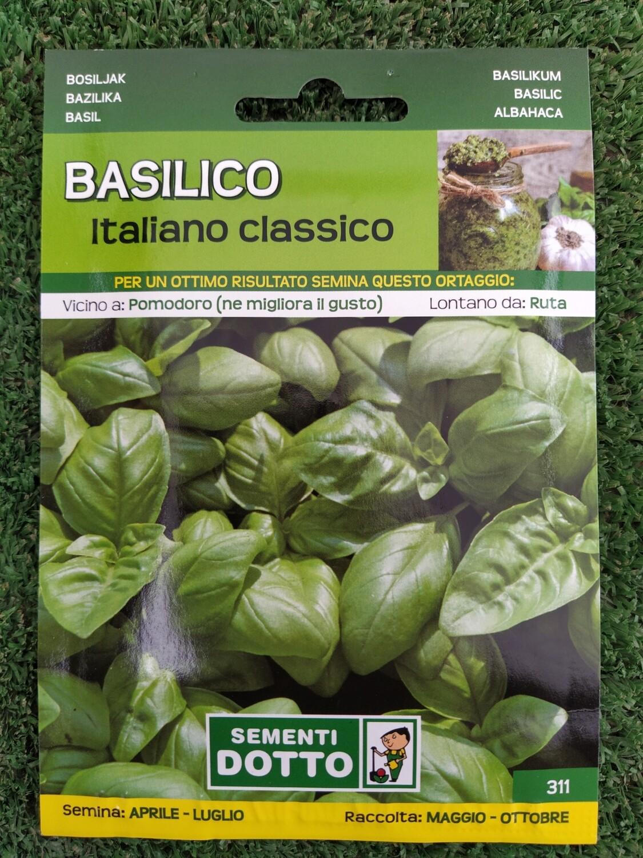 BASILICO ITALIANO CLASSICO BUSTA SEMI