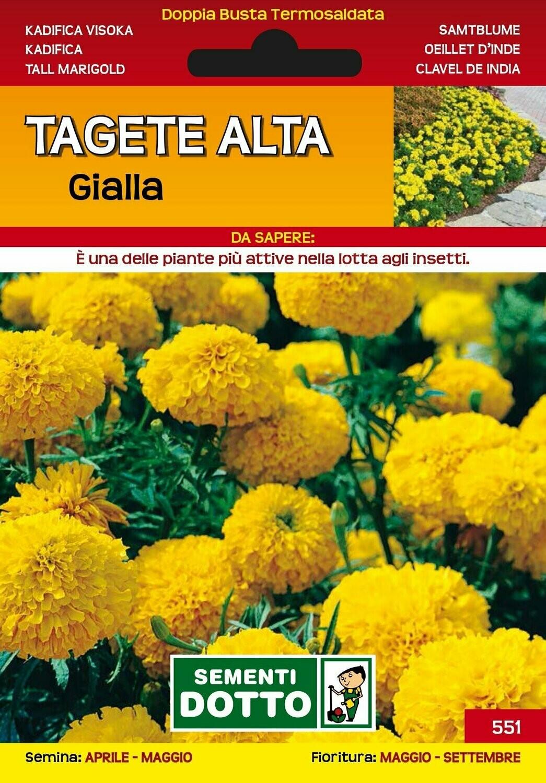 TAGETE ALTA GIALLA BUSTA SEMI