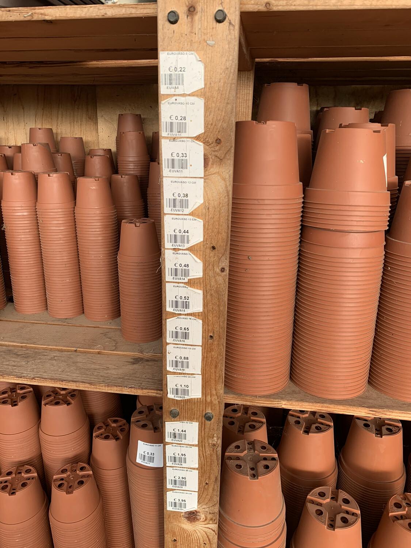 Vasi in Plastica Economici color terracotta