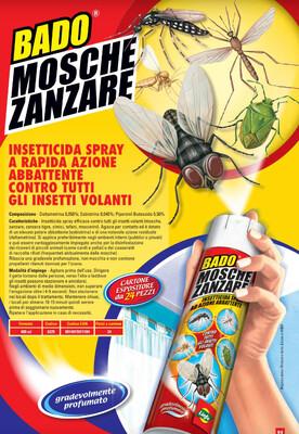 BADO SPRAY A LUNGA GITTATA Vespe/Ragni scarafaggi/mosche zanzare/ acari cimici