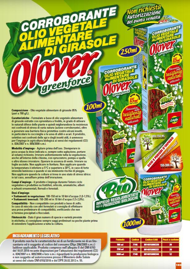 OLOVER anticocciniglia OLIO BIANCO VEGETALE