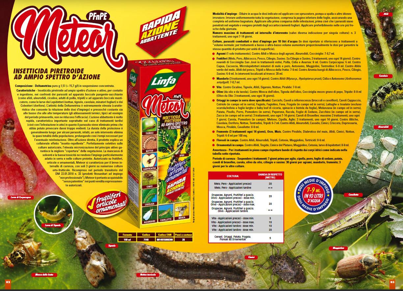 METEOR Insetticida piretroide per afidi/pidocchi e tutti insetti