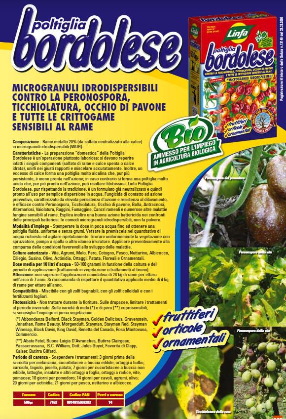 Poltiglia Bordolese (verde rame) 500 grammi