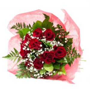 Mazzo ROSE ROSSE - 9 Rose confezionate