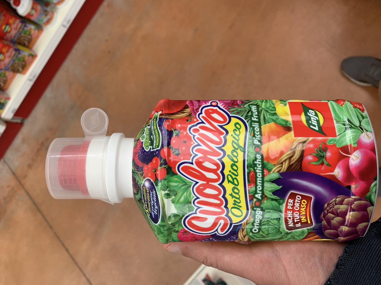 CONCIME LIQUIDO SUOLOVIVO 1,2lt per orto e frutti