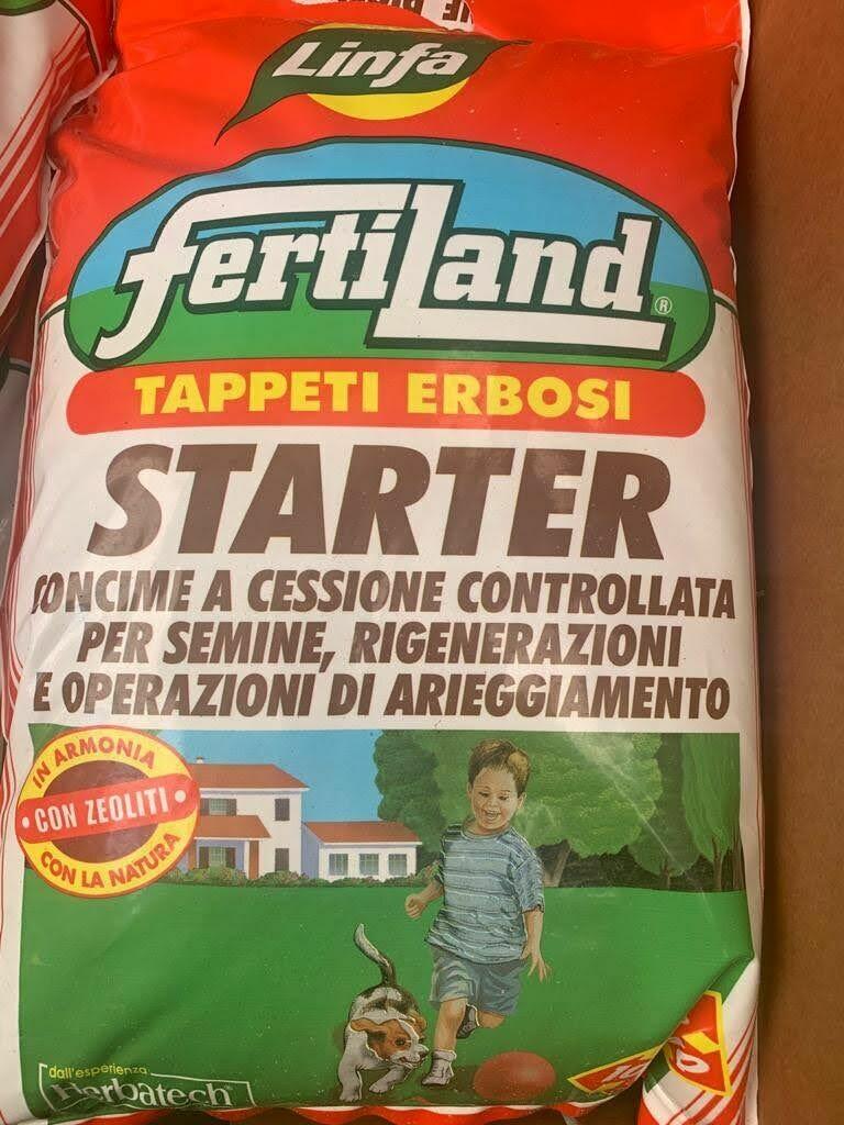 CONCIME Starter 5kg per prati Appena vegetati / arieggiati / riseminati