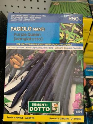 Fagiolino Nano Purple queen SCATOLA 250 grammi