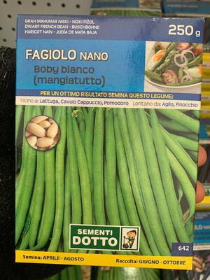 Fagiolino Nano Baby Bianco SCATOLA 250 grammi