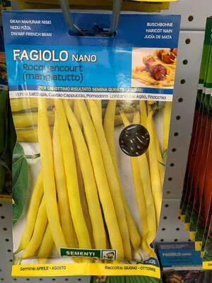 Fagiolino Nano Rocquencourt 250 grammi SCATOLA SEMI
