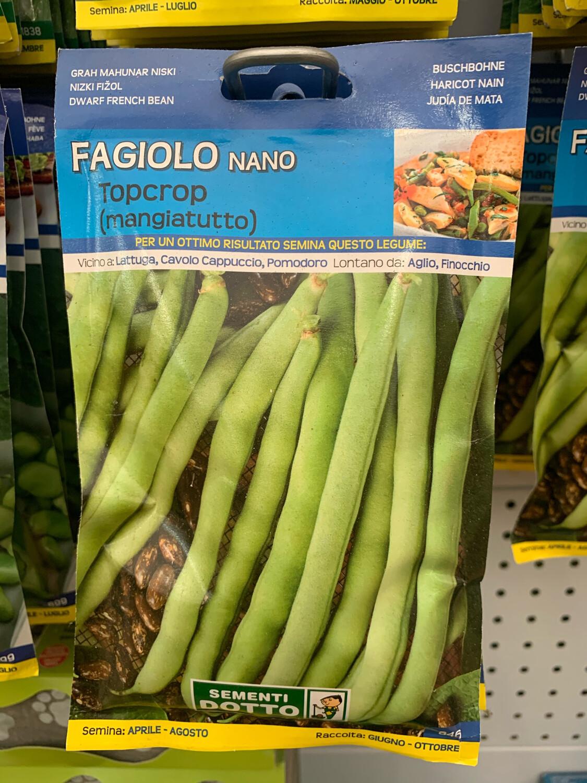 Fagiolino Nano Topccrop 95 grammi BUSTA SEMI