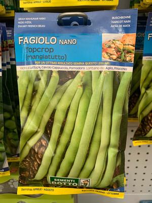 Fagiolino Nano Topccrop 250 grammi SCATOLA SEMI