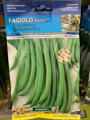 Fagiolino Nano Baby Bianco 95 grammi BUSTA SEMI