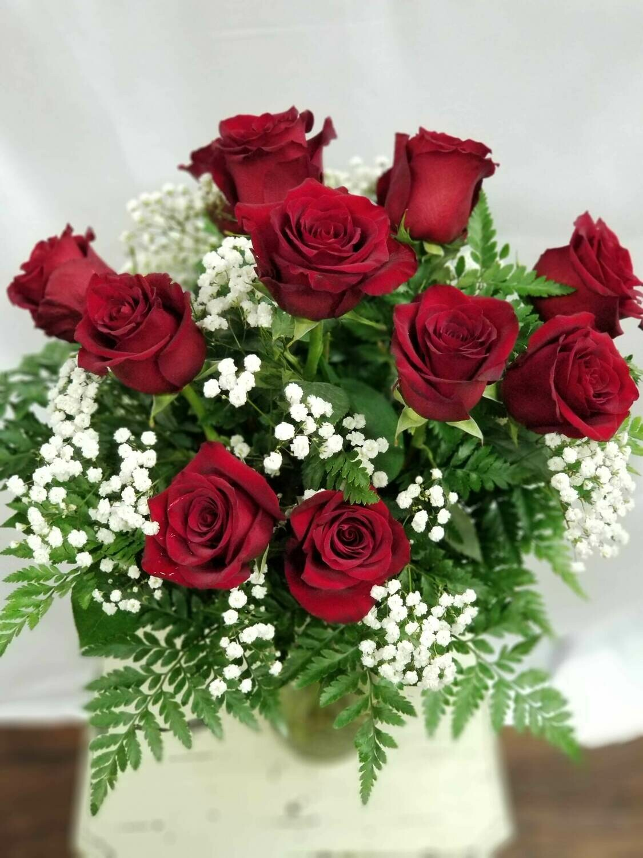 Mazzo ROSE ROSSE - 12 Rose confezionate