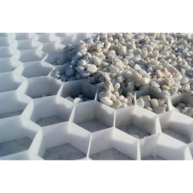 Nidagravel foglio alveolare stabilizzatore per ghiaia 120 cm x 240 cm x cm (h) (prezzo al foglio di 2,88 m2) COLORE BIANCO