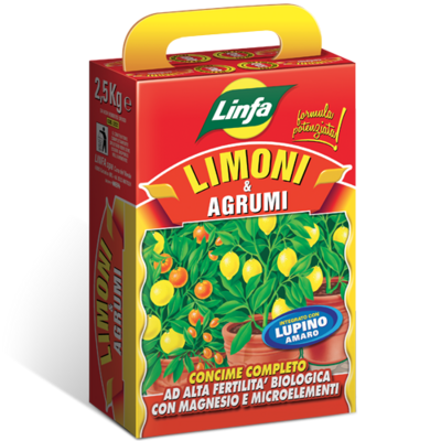 Concime per Agrumi Limoni mandarini ecc Ferro e Lupini 2,5 kg