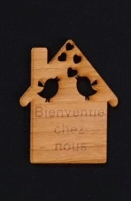 Porte clé en bois.