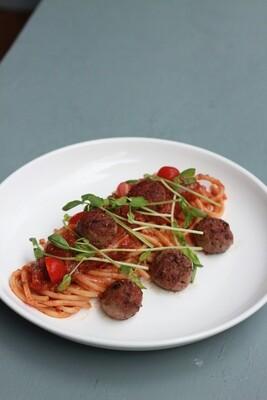 Vegan Meatball Pasta (V) by The Tiramisu Hero