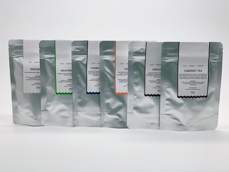 A.muse Wine Inspired Tea Tasting Pack (6 varieties x 10g Packs)