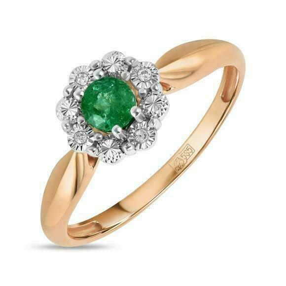 Кольцо с изумрудом R01-D-L-34833-EM