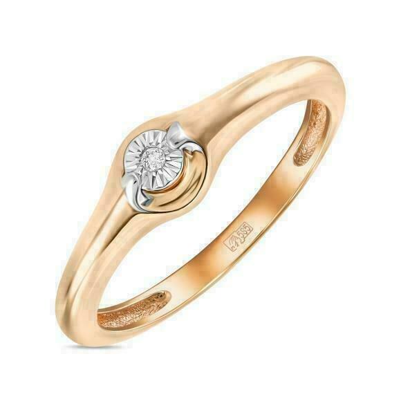 Кольцо с бриллиантом R01-D-L-PL-34977