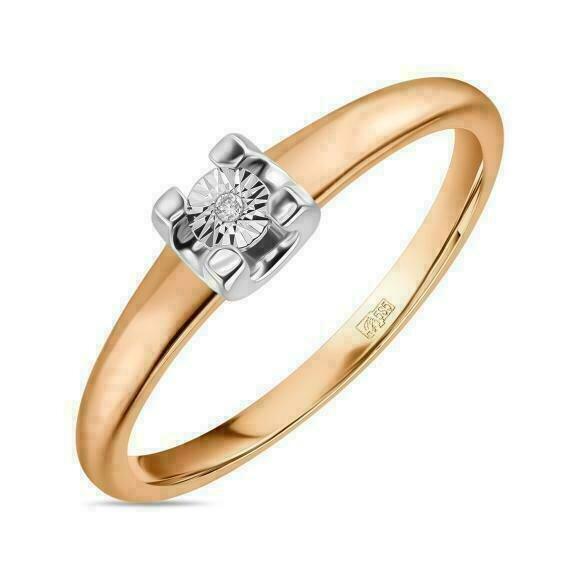 Кольцо с бриллиантом R01-D-L-PL-35226