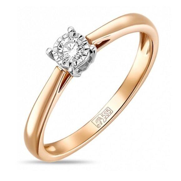 Кольцо с бриллиантом R01-D-PL-33915