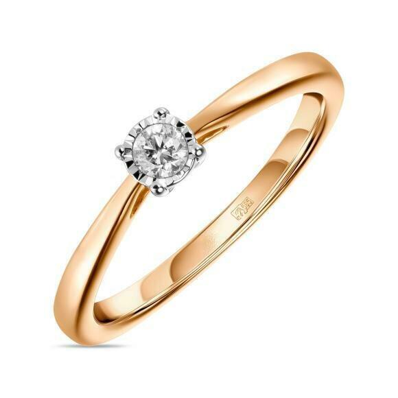 Кольцо с бриллиантом R01-D-PL-33915-R