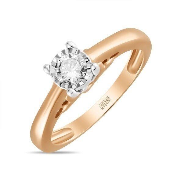 Кольцо с бриллиантом R01-D-PL-33917