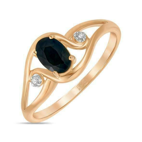 Кольцо с сапфиром R01-D-R61152-BKSA