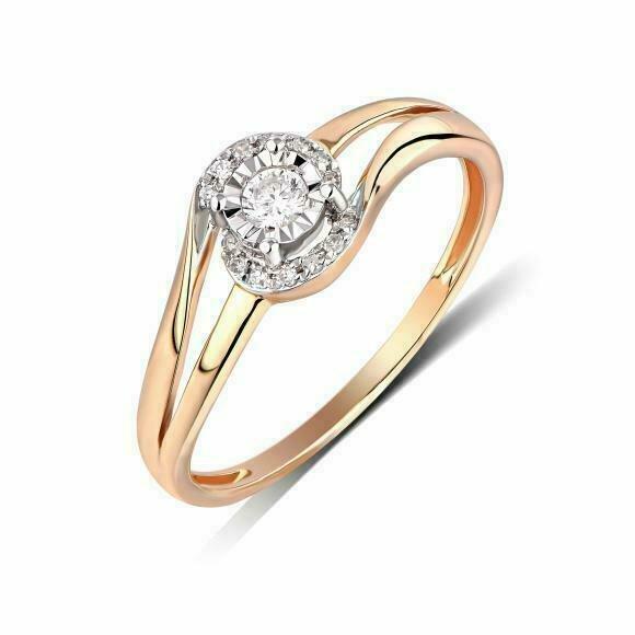 Кольцо с бриллиантами R01-D-RR01072ADI-R17
