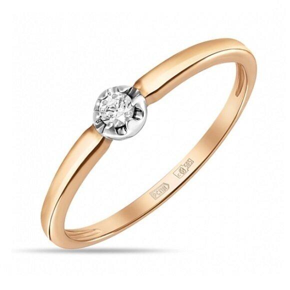Кольцо с бриллиантом R01-D-SOL14-007-G2