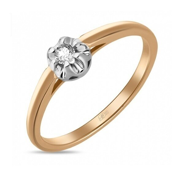 Кольцо с бриллиантом R01-D-SOL15-005-G2