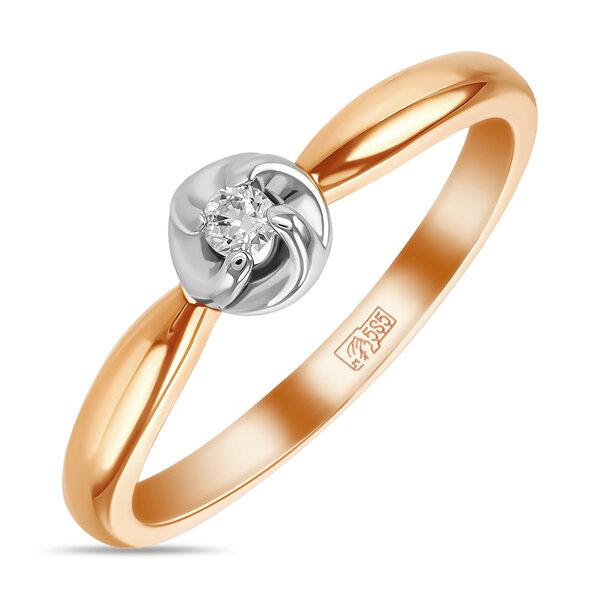 Кольцо с бриллиантом R01-D-SOL16-005-G2