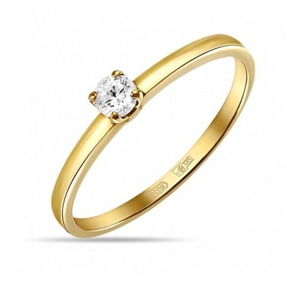 Кольцо с бриллиантом R01-D-SOL21-015-G3