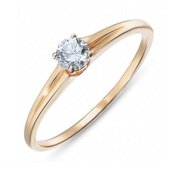 Кольцо с бриллиантом R01-D-SOL23-020-G3