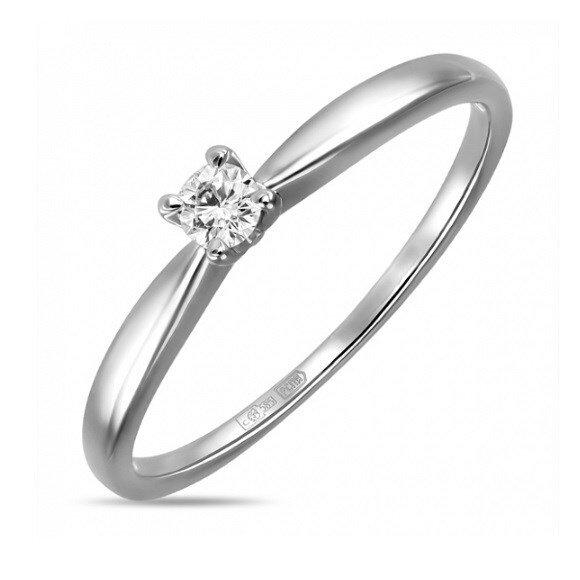 Кольцо с бриллиантом R01-D-SOL35-010-G2