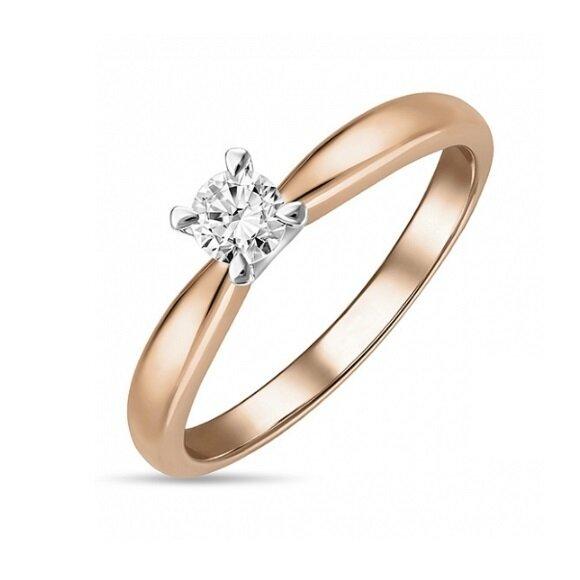 Кольцо с бриллиантом R01-D-SOL35-025-G3