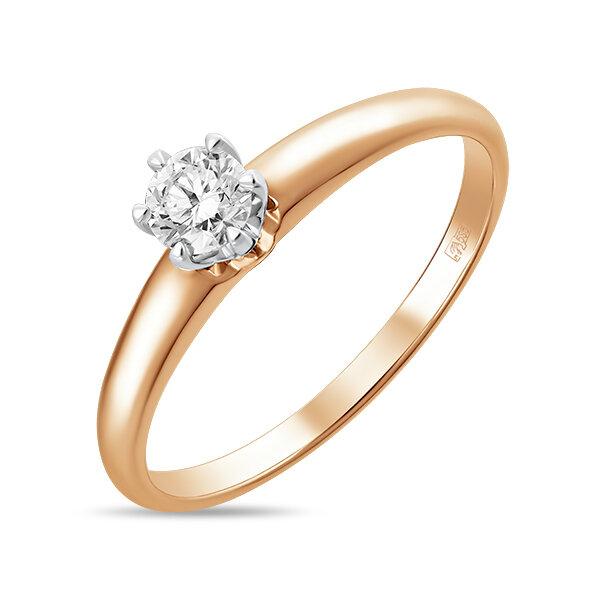 Кольцо с бриллиантом R01-D-SOL44-025-G3