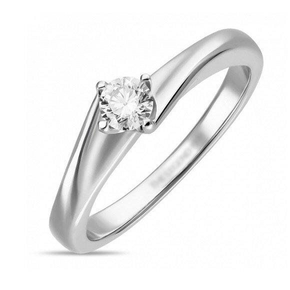 Кольцо с бриллиантом R01-D-SOL55-025-G2