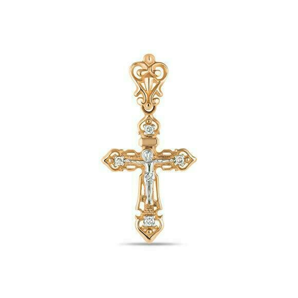 Крест с бриллиантами J01-D-BS-0121