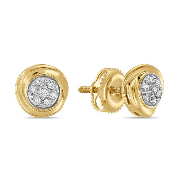 Серьги с бриллиантами E01-D-IGE-4928