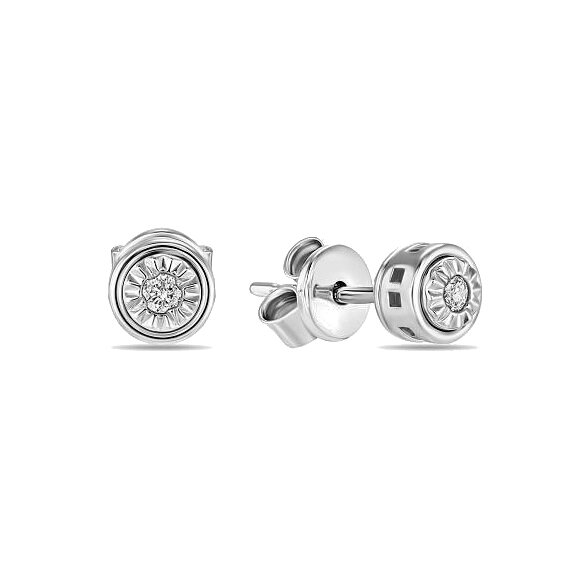 Серьги с бриллиантами E01-D-KJE1036