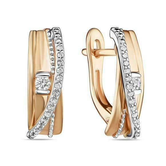 Серьги с бриллиантами E01-D-L-35320