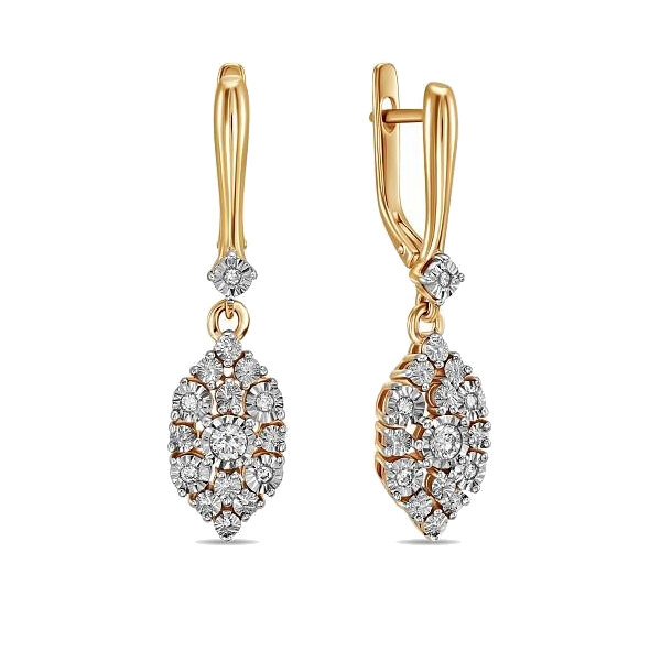 Серьги с бриллиантами E01-D-PL-33769