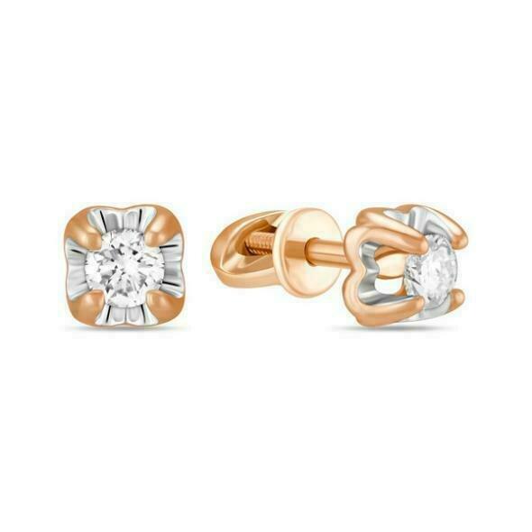 Серьги с бриллиантами E01-D-SOL28-020-G2