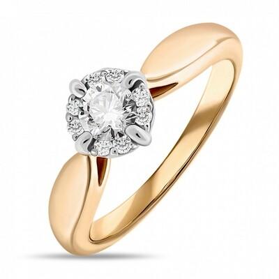 Кольцо с бриллиантом R01-D-SFM-16-010
