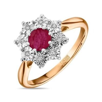 Кольцо с рубином R01-D-L-PL-35313-RO