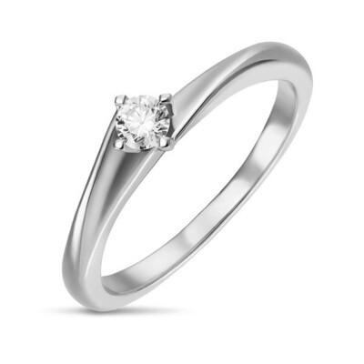 Кольцо с бриллиантом R01-D-SOL55-015-G2