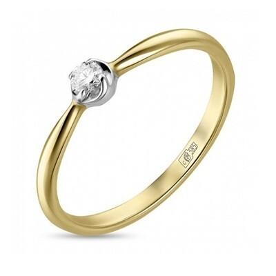 Кольцо с бриллиантом R01-D-SOL16-008-G2